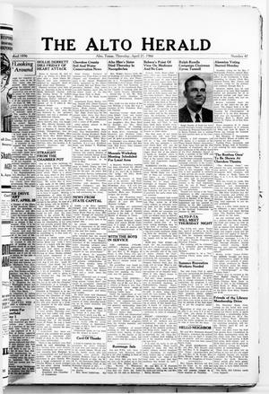Primary view of object titled 'The Alto Herald (Alto, Tex.), No. 47, Ed. 1 Thursday, April 21, 1966'.