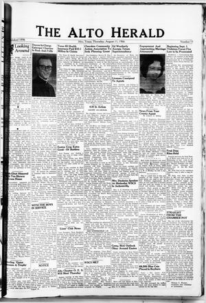 Primary view of object titled 'The Alto Herald (Alto, Tex.), No. 11, Ed. 1 Thursday, August 11, 1966'.