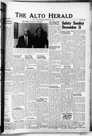 Primary view of object titled 'The Alto Herald (Alto, Tex.), No. 28, Ed. 1 Thursday, December 8, 1966'.