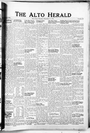 The Alto Herald (Alto, Tex.), No. 29, Ed. 1 Thursday, December 15, 1966