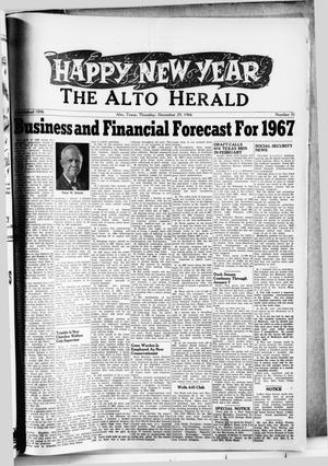 The Alto Herald (Alto, Tex.), No. 31, Ed. 1 Thursday, December 29, 1966