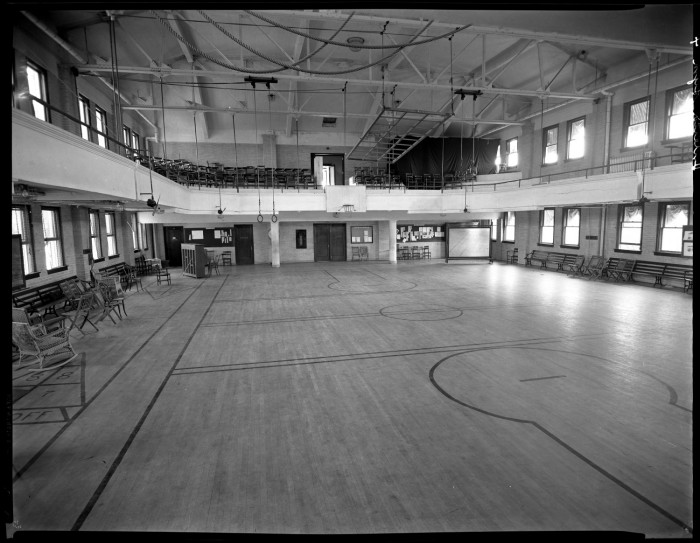 basketball court in old tscw gymnasium the portal to texas history. Black Bedroom Furniture Sets. Home Design Ideas