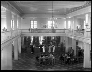 Primary view of object titled '[West lobby of F. M. Bralley Library]'.