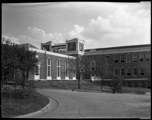 Primary view of object titled '[TSCW Science Building, west side]'.