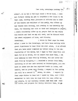 Primary view of [Transcript of letter from Emily M. Austin to Moses Austin, December 1811]