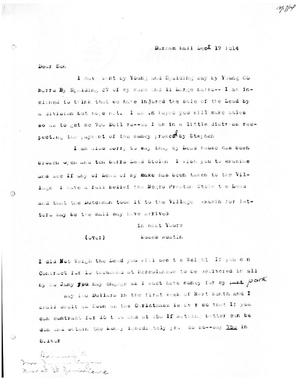 Primary view of [Transcript of Letter from Moses Austin to James Bryan, December 17, 1814]