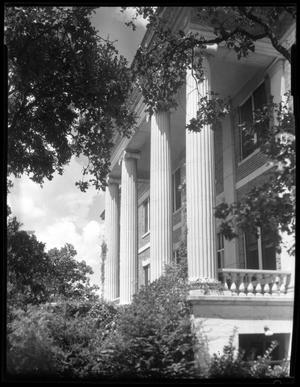 Primary view of object titled '[Entrance to Brackenridge Hall]'.