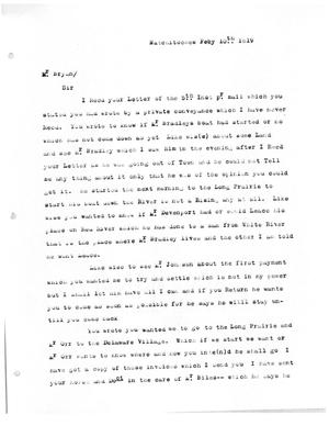 Primary view of [Transcript of Letter to James Bryan, February 10, 1819]