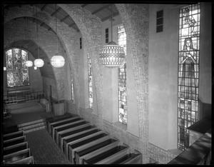 Primary view of object titled '[Interior view of Little Chapel-in-the-Woods]'.