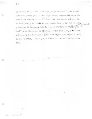 Primary view of [Transcript of Letter, June 6, 1821]