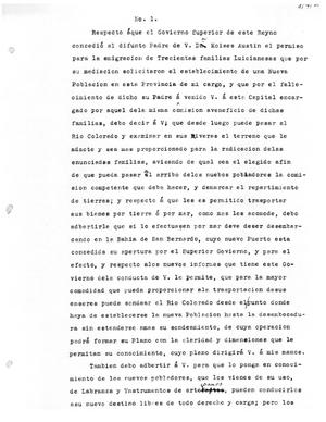 Primary view of [Transcript of letter from Antonio María Martínez to Stephen F. Austin, August 21, 1821
