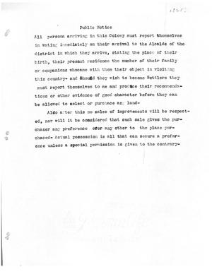 Primary view of [Transcript of public notice, [1825?]]