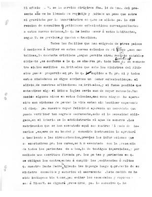 Primary view of object titled '[Transcript of Letter from Juan Nepomuceno Peña]'.