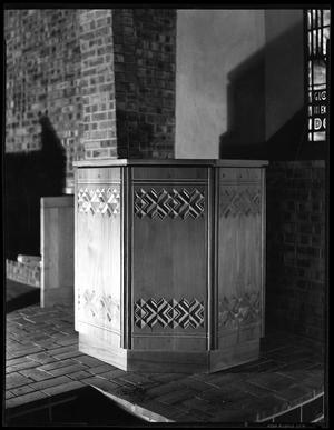 Primary view of object titled '[Pulpit of the Little Chapel-in-the-Woods]'.