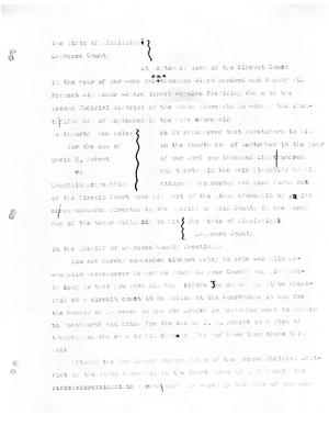 Primary view of object titled '[Transcript of a judicial record from the case of David Rubert vs. Laughlin McLaughlin, September 25, 1826]'.