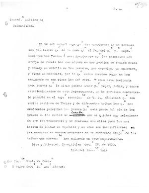 Primary view of object titled '[Transcript of letter from Francisco Ruiz to Antonio Elosua, October 29, 1830]'.