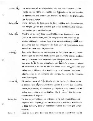 Primary view of object titled '[Transcript of a List of Legal Articles]'.