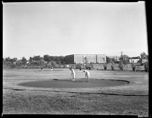 Primary view of object titled 'Golf course back of Smith Carroll Hall'.