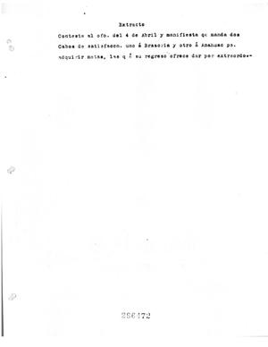 Primary view of object titled '[Transcript of Letter in Spanish, April 4]'.