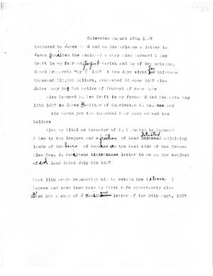 Primary view of [Transcript of memorandum from [James F. Perry] to James Reed and Co., August 27, 1837]