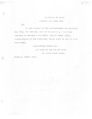 Primary view of [Transcript of letter from N. Amory to James F. Perry, April 18, 1839]