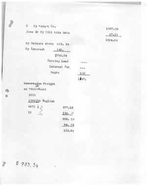 Primary view of object titled '[Transcript of bill for freight]'.