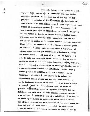 Primary view of [Transcript of Letter from Mariano Villalobos to Samuel M. Williams, August 7, 1832]