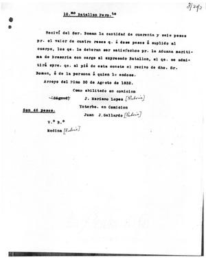 Primary view of [Transcript of Letter from J. Mariano Lopez and Juan J. Gallardo, August 30, 1832]
