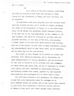 Primary view of [Transcript of Chain of Correspondence between the Commissioners of Texas, 1836]