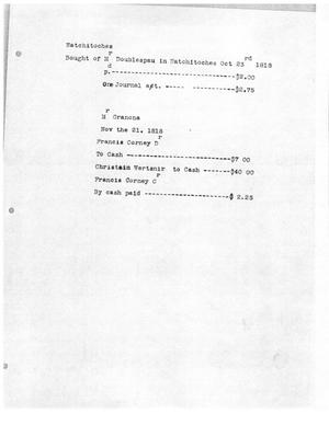 Primary view of [Transcript of an Invoice, October and November 1818]