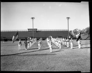Primary view of object titled '[Teacher's College Band on field]'.