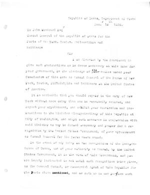 Primary view of [Transcript of letter from Stephen F. Austin to John Woodward, December 16, 1836]