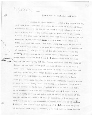 Primary view of [Transcript of Letter from Emily M. Perry to James E. B. Austin, September 1, 1825]