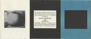 Primary view of object titled '[Invitation for Rene Magritte in America preview showing]'.