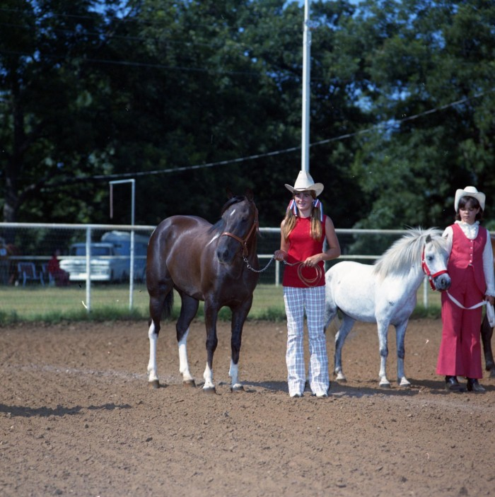 Two Girls With Horses At Irving Junior Show
