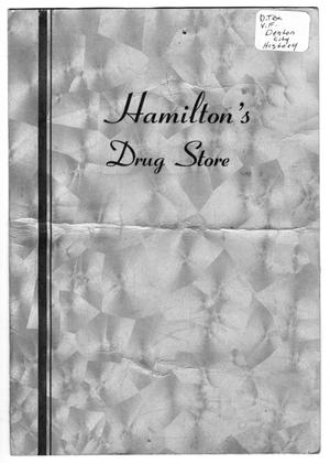 Primary view of object titled 'Hamilton's Drug Store menu'.