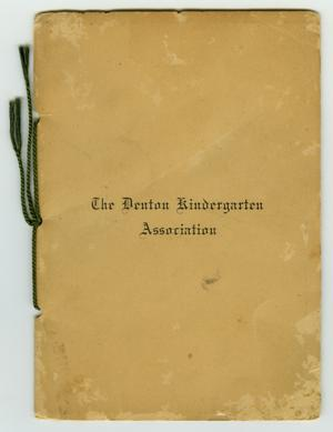 Primary view of object titled 'The Denton Kindergarten Association'.