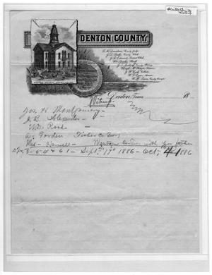 Primary view of object titled '[Denton County letterhead]'.