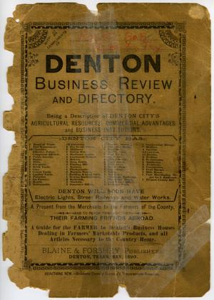 Primary view of object titled '[1890] Denton Business Review and Directory'.