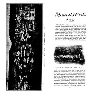 Primary view of object titled 'Mineral Wells,  Texas'.