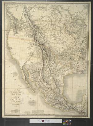 Primary view of A map of Louisiana and Mexico : Carte de la Louisiane et du Mexique.