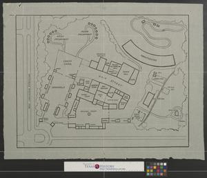 Primary view of object titled '[Map of Texas Frontier Centennial fairgrounds, Fort Worth, Texas]'.