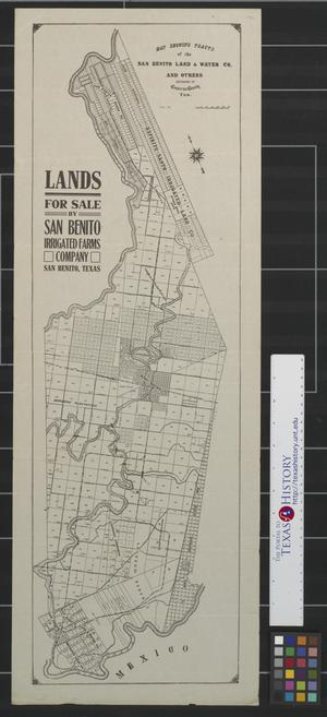 Primary view of object titled 'Map showing tracts of the San Benito Land & Water Co. and others situated in Cameron County, Tex., 1911.'.