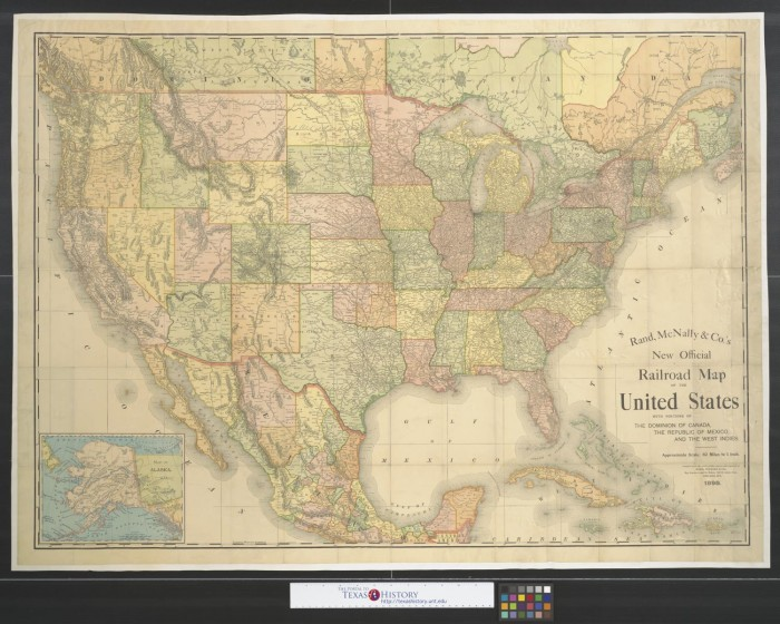 Rand McNally & Co.'s new official railroad map of the United ... on brown maps, white maps, united states maps, motorcycle road maps,