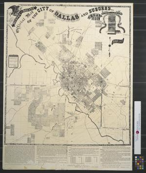 Primary view of object titled 'Revised edition of Murphy and Bolanz' Official map of the city of Dallas and suburbs, Texas, 1891.'.