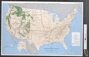 Primary view of object titled 'Flammulated owl locations and distributions of associated vegetative ecosystems in the United States, 1993.'.