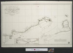 Primary view of Tercera hoja que comprende la parte de las costa de Tierra Firme islas adyacentes : entre los meridianos de 63 [grados] 30ʹ y 68 [grados] 44ʹ al ocidental de Cadiz.