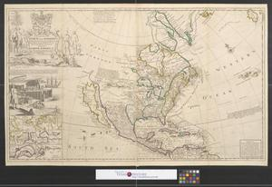 Primary view of object titled 'To the Right Honourable John Lord Sommers ... this map of North America according to ye newest and most exact observations is most humbly dedicated by your Lordship's most humble servant.'.
