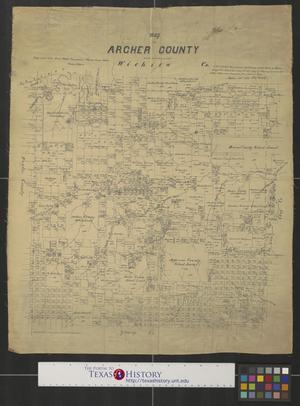 Primary view of object titled 'Map of Archer County [Texas].'.