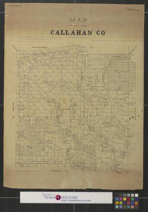 Primary view of object titled 'Map of Callahan Co. [Texas].'.